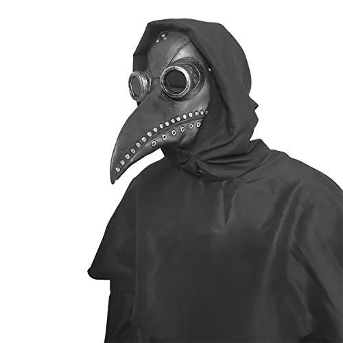 anroog Halloween Mask Plague Doctor Bird Mask Long Nose Beak Cosplay Steampunk Halloween Costume(#2 Plague Doctor )