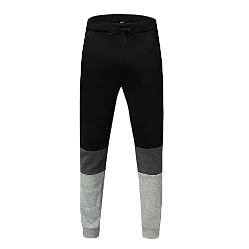 Briskorry Herren Outdoor Freizeit Trekkinghose Gummibund Herren Arbeitshose Viele Taschen Jogginghose Urban Classics
