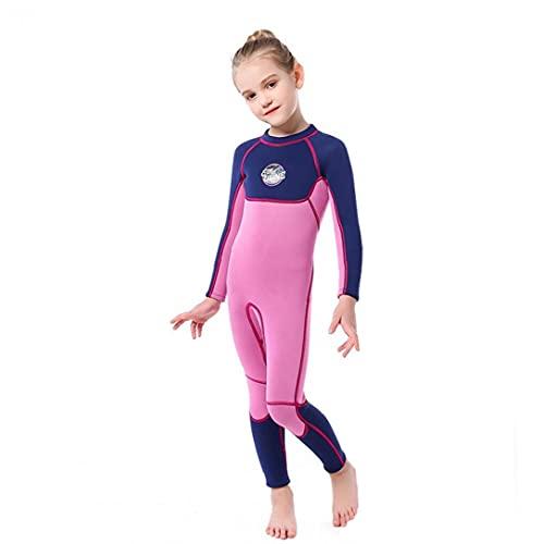 Niñas con traje de neopreno para niños Trabajo completo 0.3 cm Neopreno Termal Buceo Snorkel Traje de snorkel de una pieza Traje de baño azul oscuro xxl