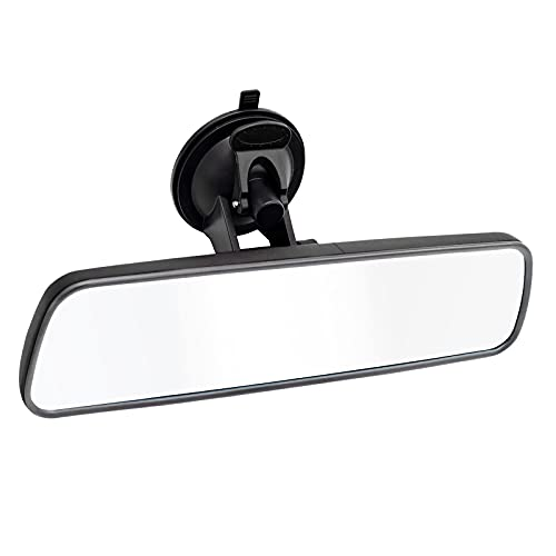NINGFIST Anti Glare Adjustable Suction Cup Rear View Mirror Universal Thickened Interior Rearview Mirror Wide Angle rearvier View Mirror for cars vehicles SUV Trucks and Boats(Black Gray)