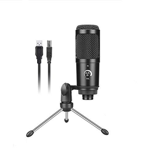 XJJZS Micrófono de Condensador USB para micrófono de computadora para el micrófono de grabación de Juegos con Soporte de Stand Shock