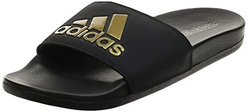Adidas Adilette Comfort, Scarpe da Ginnastica Uomo, Core Black/Gold Met./Core Black, 42 EU