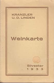 Kranzler u. d. ( unter den ) Linden - Weinkarte Silvester 1933.