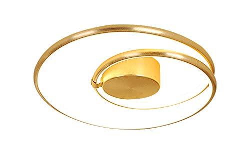 AXWT Dormitorio de techo del LED creativo de la sala de la lámpara de techo Inicio Maestro Personalidad dormitorio habitaciones Nordic iluminación de oro de aluminio Luz de techo Luces pendientes de a