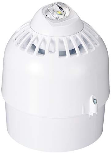 Klaxon Signals ESC-5001 Sonos Pulse Sonos - Faro ecoscandaglio, base profonda, bianco/bianco, 97dB(A), 17-60 VDC, corrente ecoscandaglio 25 mA