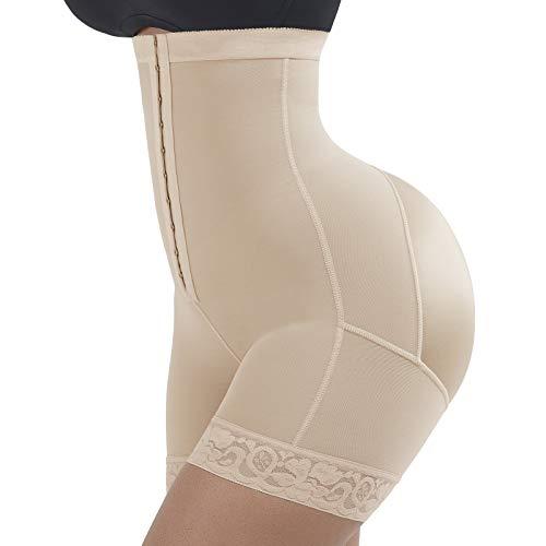 Tummy Control Body Shaper Butt Lifter Shapewear Seamless Control Panty Boyshorts Beige S