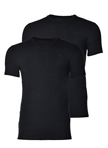 Joop! Herren V-Neck T-Shirt, 2er Pack, Schwarz, XL