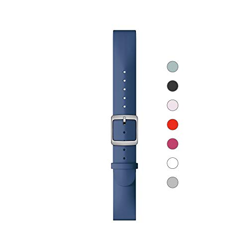 Withings Erwachsene Silikonarmband, Tiefblau & Silber, 18 mm