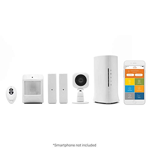 ome8 Video Security System | Sistema de Alarma inalámbrico | Con cámara HD, sensores de Alarma, Sirena Interior y Servicio de Alarma Base | Integración Alexa de Amazon