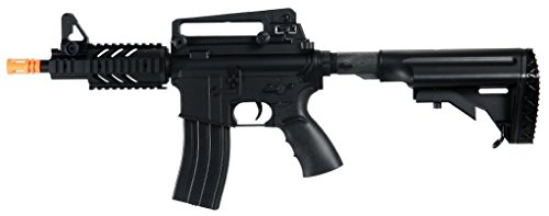 Well D3809 M16 CQB Stubby Electric Airsoft Gun Full Auto Assault Rifle FPS-300, Comes with Retractable Crane Stock, High Capacity Magazine(Airsoft Gun)