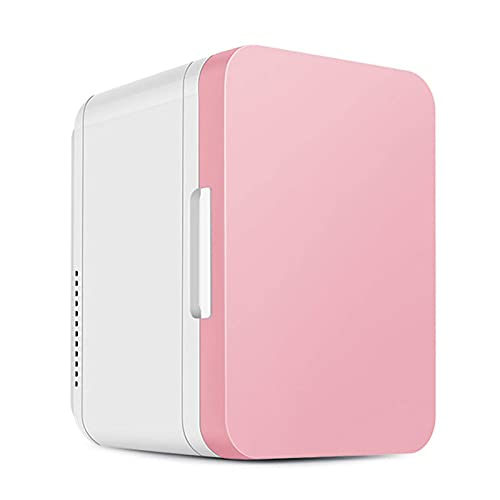 Mini refrigerador pequeño para el hogar, silencioso, de 8 l, para automóvil, con Puerta de Vidrio, refrigerador para Bebidas, pequeño, para Acampar, para almacenar Leche Materna, Bebidas para el CUID