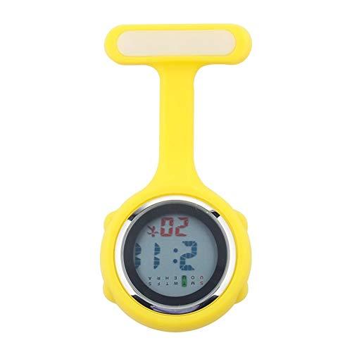 Reloj de broche duradero Silicona reloj digital de la enfermera de bolsillo reloj de bolsillo reloj de la enfermera del doctor broche de solapa de reloj de cuarzo Enfermero Doctor Paramédico Médico
