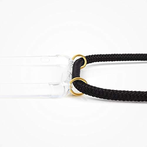 ZhinkArts Handykette kompatibel mit Huawei P20 Pro - Smartphone Necklace Hülle mit Band - Schnur mit Case zum umhängen in Schwarz - Gold - 4