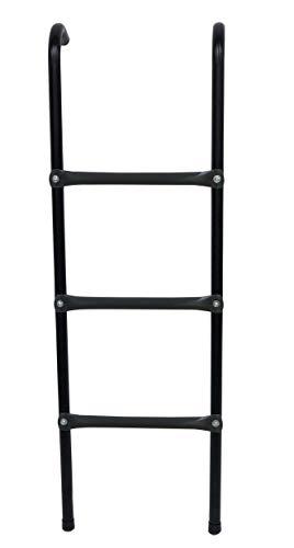 SportPlus Trampolin Leiter für Gartentrampoline 305 & 366, SP-T-305-L, Maße ca. 110 x 30 cm, 3 Stufen, Gebogene Haken zum Einhängen, Gummifüße für einen rutschfesten Stand, witterungsbeständig