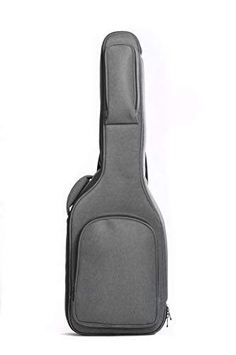 Professional Electric Guitar Gig Bag Soft Case by Hola! Music, Pro Series with 25mm (1 Inch) Padding, Gray