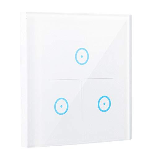Xirfuni Interruptor de luz WiFi, Control táctil Capacitivo 24000W Temporización AC 100-250V Interruptor de Control Remoto, Accesorios de Seguridad Consola para Dispositivo electrónico Seguridad