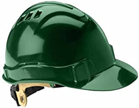 Gateway Safety 71205 Serpent High Density Polyethylene Vented Safety Helmet with Ratchet Suspension, Type I/Class C, Green