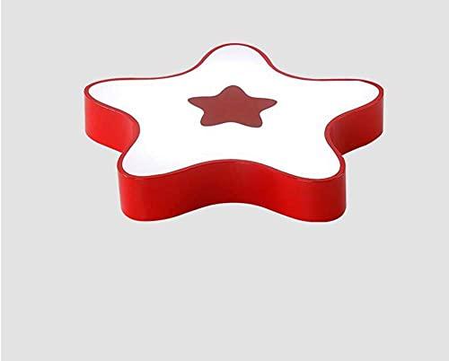 HLY Luces simples, Lámpara de luz Lámpara de techo de dibujos animados, Creativo color simple Acrílico/Diseño de estrella de mar Luces de techo, Habitación para niños Decoración de dormitorio de ja