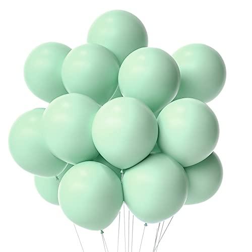 Janinus Pastel Green Balloons Party Balloons 12 Inches 50 PCS Pastel Mint Green Party Balloons Mint Green Latex Balloons Birthday Balloons For Party