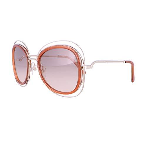 Chloé CE123S 735 56 Gafas de sol, Gold/Caramel, Mujer