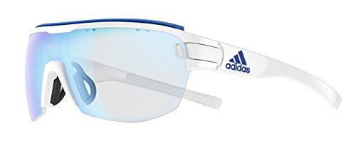 Adidas Brille zonyk aero midcut pro ad11 Large 1500 white shiny VARIO blue mirror