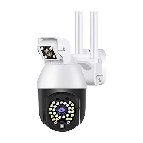 WIDIAN Câmera de vigilância HD sem fio com lentes duplas, câmera IP WiFi 1080p, visão noturna, à prova d'água Ip66, microfone integrado, câmera de segurança inteligente