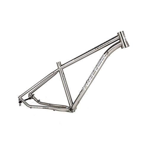 MAIKONG Cuadro de Bicicleta de montaña de aleación de Titanio Cuadro de MTB Ligero Cuadro de Bicicleta de montaña 17.5 / 29er Cuadro de Bicicleta MTB Enrutamiento Interno de Cables,29,height17