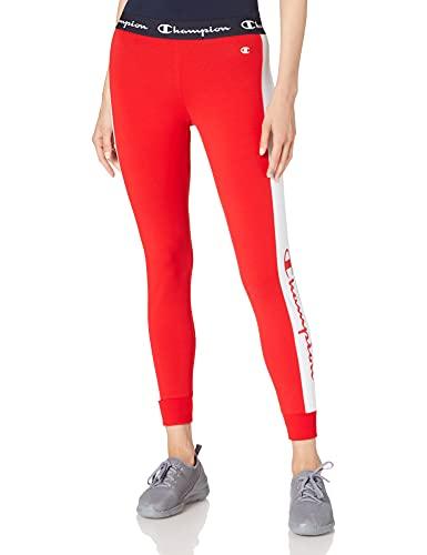Champion Damen Seasonal AC Logo Slim Crop Pants Hose, rot, Medium