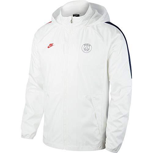 NIKE PSG M Nk Awf LTE Jkt Chaqueta de Deporte, Hombre, White/White/Midnight Navy/(University Red) (no Sponsor-Cl), S