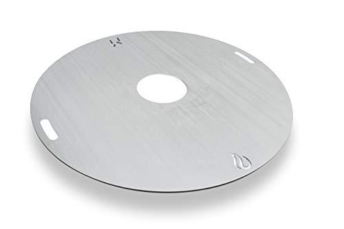 mocisa Universal BBQ Grillplatte Feuerplatte Fassgrill Kugelgrill 80 cm Stahl blank Stärke 5mm Made in Bavaria