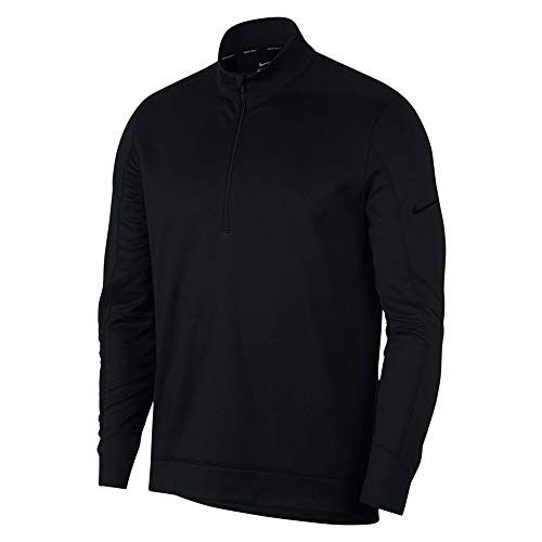 NIKE Therma Repel Top Half Zip OLC Golf Pullover 2018 Black Medium