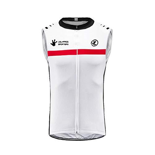 Uglyfrog Herren Rennrad Radtrikot MTB Ärmellose Trikots & Shirts Radweste, Atmungsaktive Cycling Vest Bike Riding Sportjacke, für Männer und Frauen DEHerrenV17