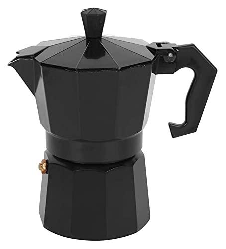 Accesorio de la cocina de la cocina de la cafetera de la cafetera de aluminio de 150 ml de la cafetera de la cafetera para la oficina de la oficina (Color : Black, Size : 14x9x15cm)
