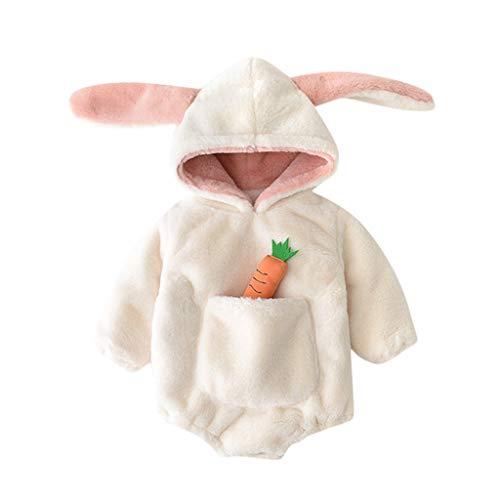 Vectry Abrigos Niña Chaquetas Recién Nacido Bebé Niña Caliente Fleece Grueso Body con Capucha Romper Outwear Abrigo