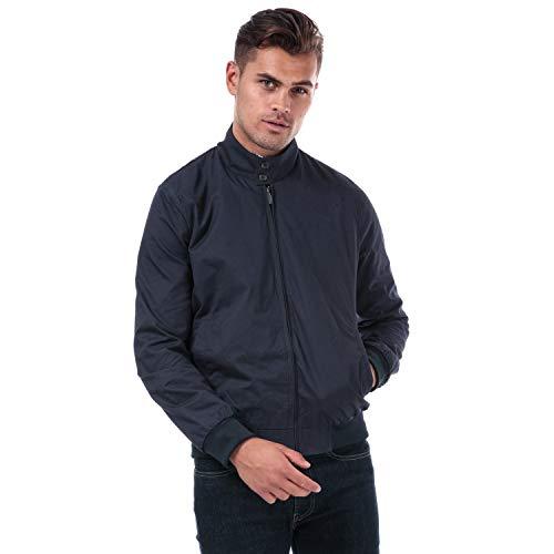 Ben Sherman Harrington Herren-Jacke in Marineblau, mit Reißverschluss, Taschen an den Seiten. Gr. L, blau
