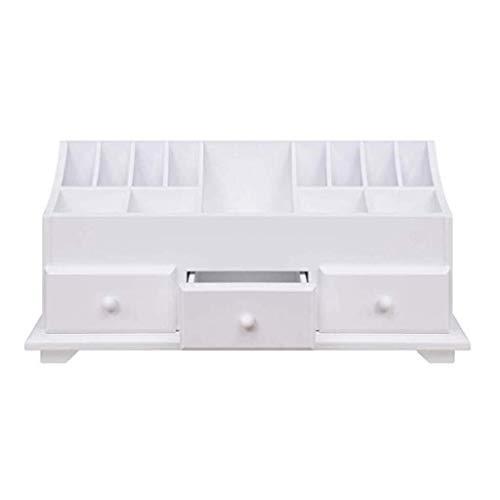 JOMOSIN SNH0216 - Caja de almacenamiento multifuncional con 3 cajones y 13 piezas, color blanco