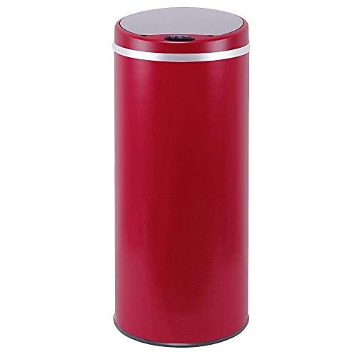 Poubelle de cuisine automatique 42L SOHO Rouge mat en...