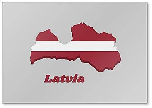 Kühlschrankmagnet, Motiv Flagge Lettlands