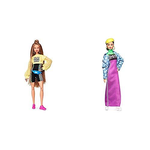 Barbie Muñeca BMR 1959, Look pantalón Ciclista + Muñeca BMR 1959, Look Cazadora Denim, Regalo para niñas y niños 3-9 años (Mattel GHT95) , Color/Modelo Surtido
