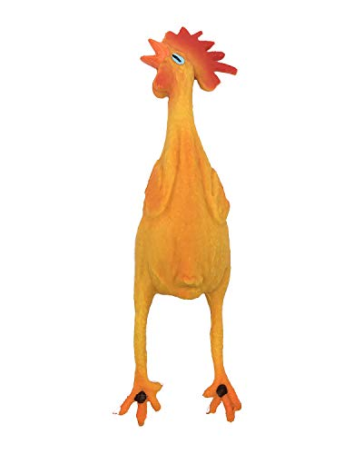 Rubber Chicken Dog Toys Natural Rubber (Latex) Lead-Free Chemical-Free Complies to Same Safety Standards as Children's Toys. Soft Unstuffed Squeaky (Small)
