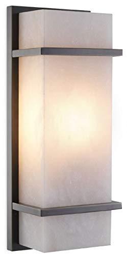 Casa Padrino lámpara de Pared de Lujo Bronce/alabastro 13 x 9 x A. 34 cm - Elegante lámpara de Pared con Pantalla de alabastro - Luces de Lujo