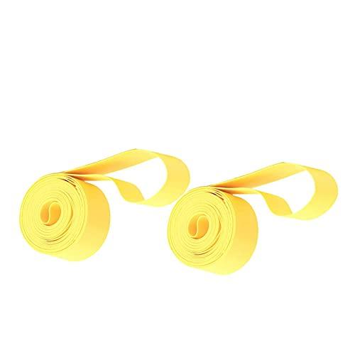 MARMODAY Bicicleta de carretera bicicleta de montaña MTB neumático Liner a prueba de pinchazos cinturón interior neumáticos amarillo 2 unids 29 pulgadas x 20mm