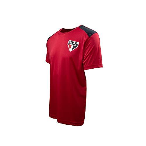 Camisa do São Paulo Vince Masculino Vermelha c/Emblema Time Tamanho:P;Cor:Vermelho