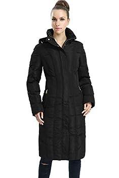 BGSD Women s Cherie Waterproof Puffer Parka Coat Black Large