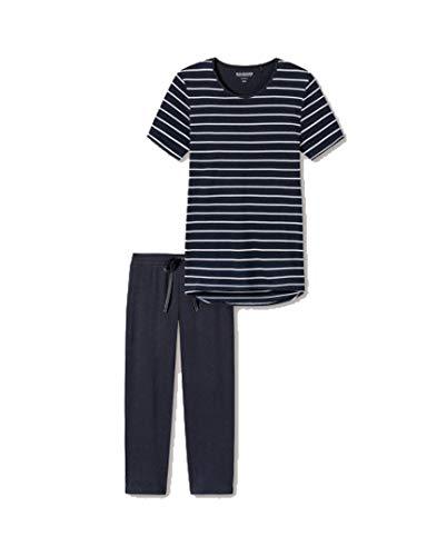 Schiesser Damen Pyjama Night Blue 38