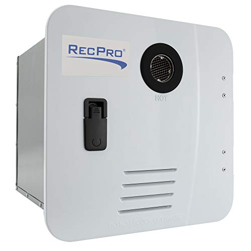 RecPro RV Tankless Water Heater | On Demand Hot Water Heater | Gas Water Heater | Remote Control Included (White)