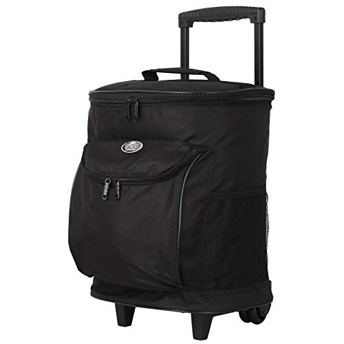 Traveler's Club Unisex's 16 Inch Single Section Rolling Cooler, Black Briefcase, One size