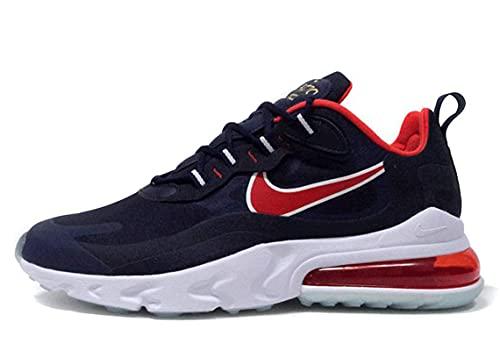 Nike Air Max 270 React - Zapatillas de running para hombre, azul marino y rojo, 44.5 EU