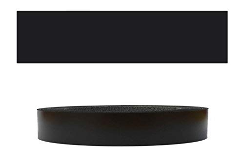 Mprofi MT® (5m rollo) Cantoneras laminadas melamina para rebordes con Greve Negro Liso 22 mm