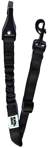 Black Rhino - Safety First Doggie Seat Belt - Adjustable Length - | Bungee Shock Absorption | Car Seat Belt Small Medium Large Pets Dogs Cats - Safety Leads - Vehicle Seatbelt Harness Black